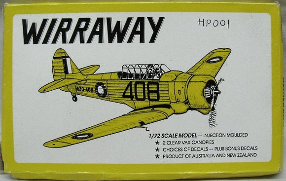 CAC Wirraway Fighter 1/72 Scale Plastic Model Kit