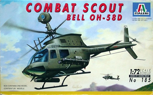 Bell OH-58D Kiowa Helicopter 1/72 Scale Plastic Model Kit