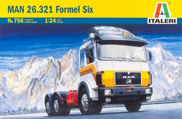 MAN 26.321 Formel Six Tractor 1/24 Scale Truck Model Kit 756