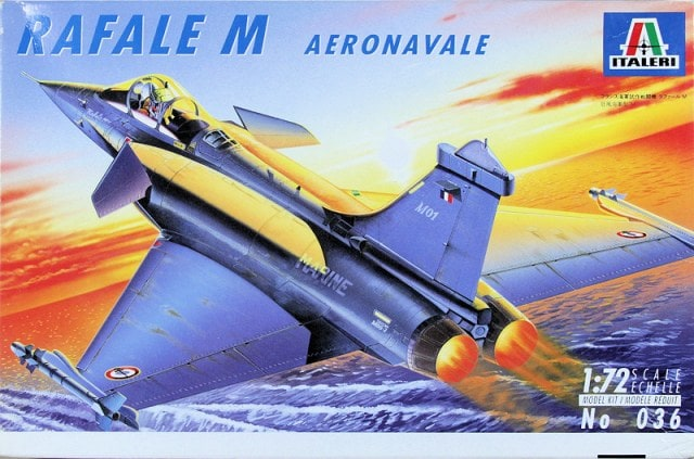 Rafale M Aeronavale Fighter 1/72 Scale Plastic Model Kit