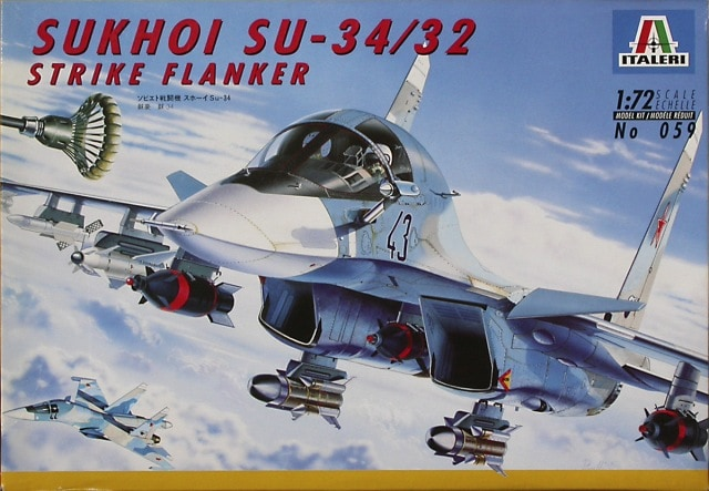Sukhoi SU34/32 Strike Flanker Fighter 1/72 Scale Plastic Model Kit