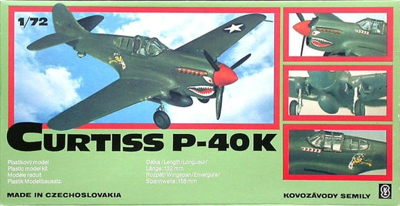 Curtiss P-40K Fighter 1/72 Scale Plastic Model Kit