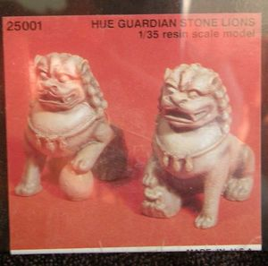 Hue Stone Lion Figures Resin Set 1/35 Scale