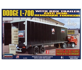 Dodge L-700 Tractor w Box Trailer 1/25 Scale