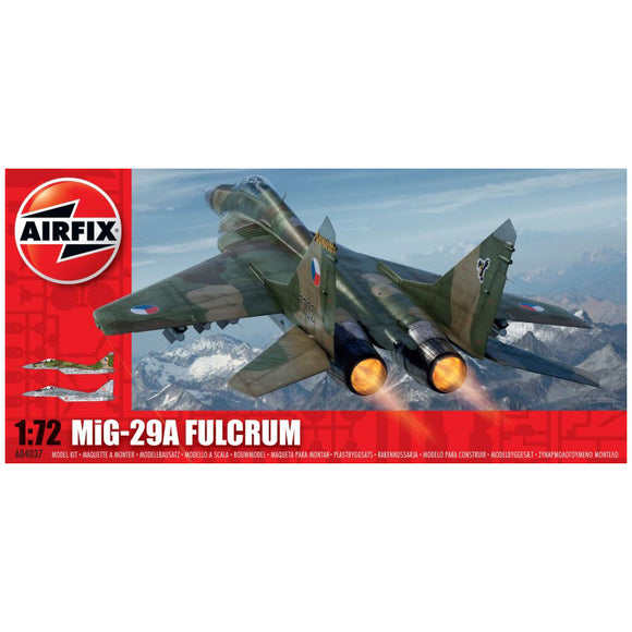 Mig 29A Fulcrum 1/72 Scale Plastic Model Kit