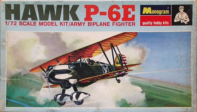 Curtiss Hawk P6E Fighter 1/72 Scale Plastic Model Kit
