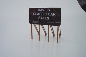 Standard Billboard Sign HO Scale