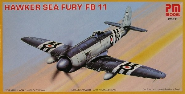 Hawker Sea Fury FB 11 Fighter 1/72 Scale Plastic Model Kit