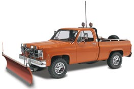 "GMC Pickup with Snow Plow"" Plastic Model Car Kit"