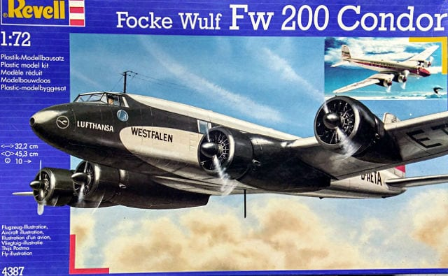 Focke Wulf FW200A Condor Airliner 1/72 Scale Plastic Model Kit