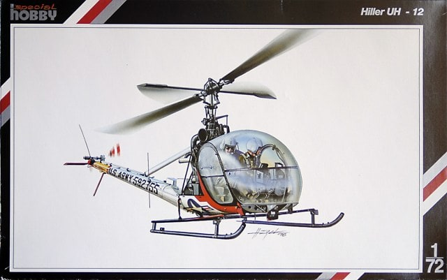 Hiller UH-12 Helicopter 1/72 Scale Plastic Model Kit