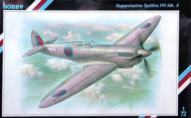 Supermarine Spitfire PR Mk X 1/72 Scale Plastic Model Kit