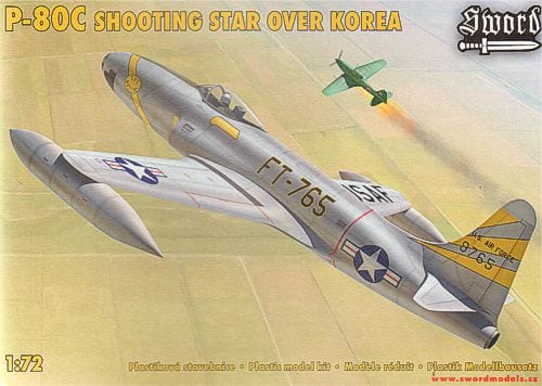 Lockheed P80C Shooting Star (J28A) 1/72 Scale Plastic Model Kit