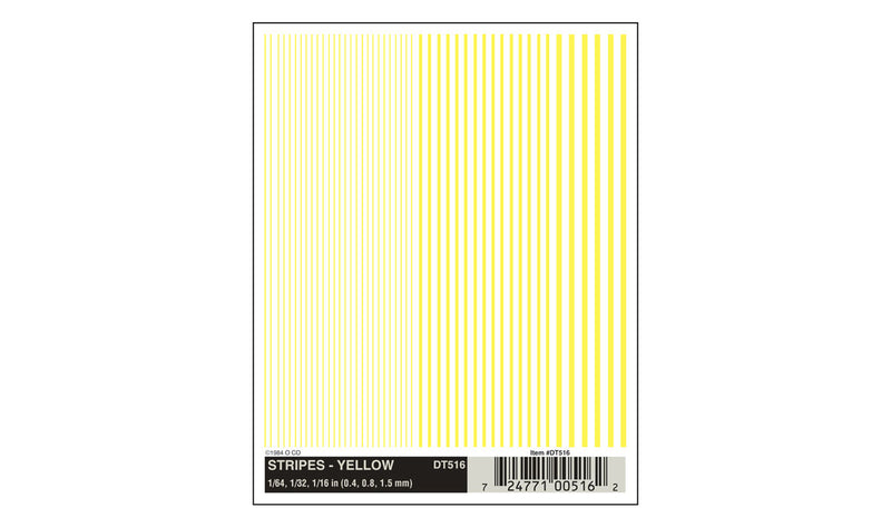 Stripes Yellow Decal