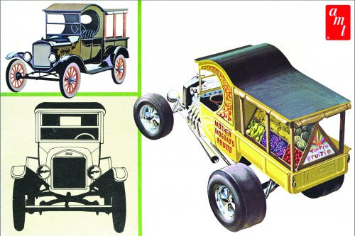 1925 Ford Model T Fruitwagon`1/25 Scale Plastic Model Kit AMT 869