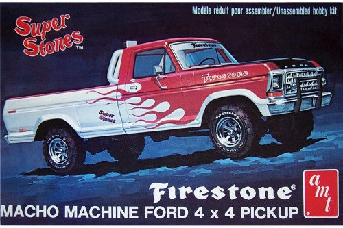 "1978 Ford 4X4 Pickup "" Firestone"" 1/25 Plastic Model Car Kit"