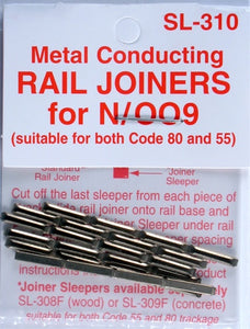 N Scale Metal Rail Joiners Code 55 and 80
