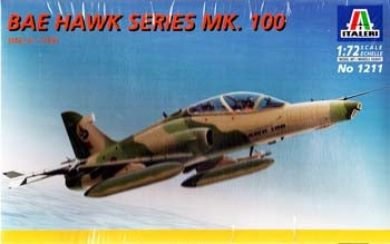 BAE Hawk Mk 100 1/72 Scale Plastic Model Kit Italeri 1211