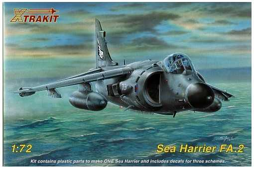 BAE Sea Harrier FA 2 1/72 Scale Plastic Model Kit Xtrakit XT72006