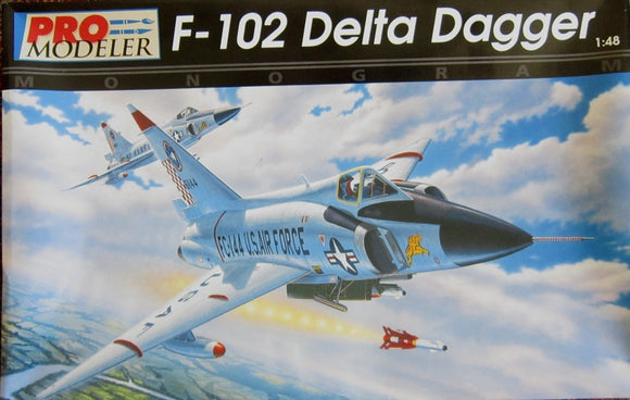 Convair F-102 Delta Dagger 1/48 Scale Plastic Model Kit Monogram 5923