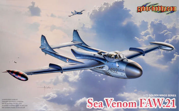 De Havilland Sea Venom FAW 21 1/72 Scale Plastic Model Kit Dragon 5096