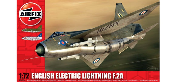 English Electric Lightning F2A 1/72 Scale Plastic Model Kit Airfix A01006
