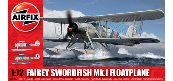 Fairey Swordfish Floatplane  1/72 Scale Plastic Model Kit Airfix A05006