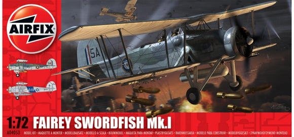 Fairey Swordfish Mk l1/72 Scale Plastic Model Kit airfix a05006