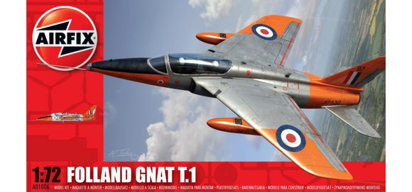 Folland Gnat T1 1/72 Scale Plastic Model Kit Airfix A01006