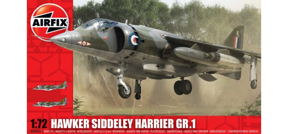 Hawker Siddley Harrier GR 1 1/72 Scale Plastic Model Kit Airfix A03003