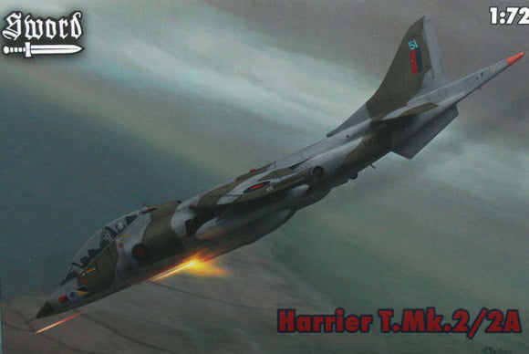 Hawker Siddley Harrier T Mk 2 1/72 Scale Plastic Model Kit Sword 72061