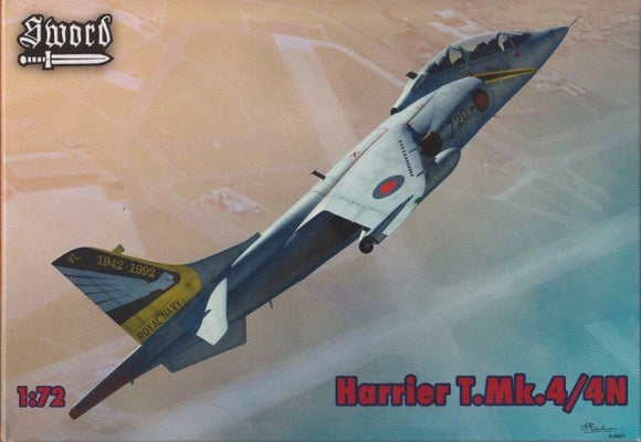 Hawker Siddley Harrier T Mk 4 1/72 Scale Plastic Model Kit Sword 72062