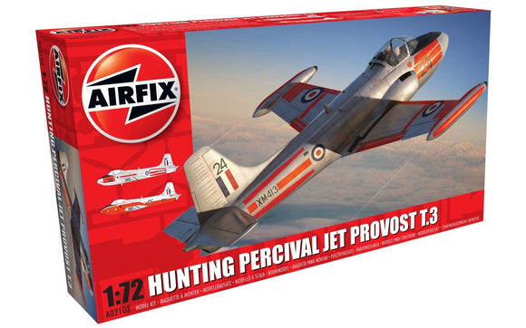 Hunting Percival Jet Provost T3  1/72 Scale Plastic Model Kit Airfix A02103