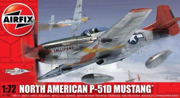 North american P51D\ 1/72 Scale Plastic Model Kit Airfix A01004