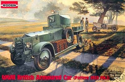 Rolls Royce 1920 Pattern Mk l Armoured Car 1/35 Scale Plastic Model Kit Roden 801