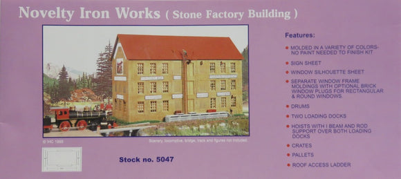Stone Factory Building Plastic Model Kit HO Scale IHC 5407