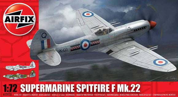Supermarine Spitfire Mk 22 1/72 Scale Plastic Model Kit Airfix A02033