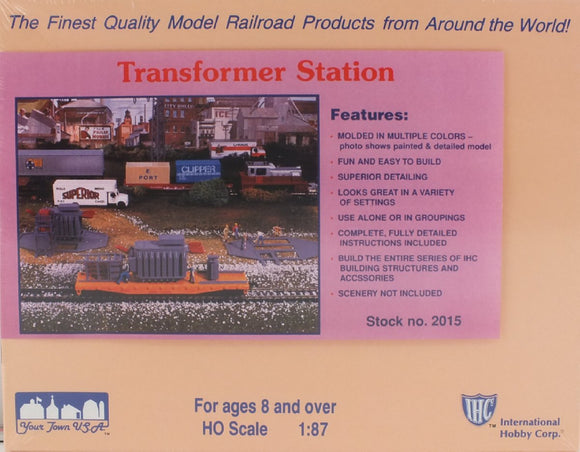 Transformer Station Plastic Model Kit HO Scale IHC 2015