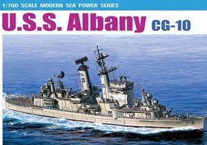 USS Albany CG-10 Guided Missle Cruiser 1/700 Scale Plastic Model Kit Dragon 7097