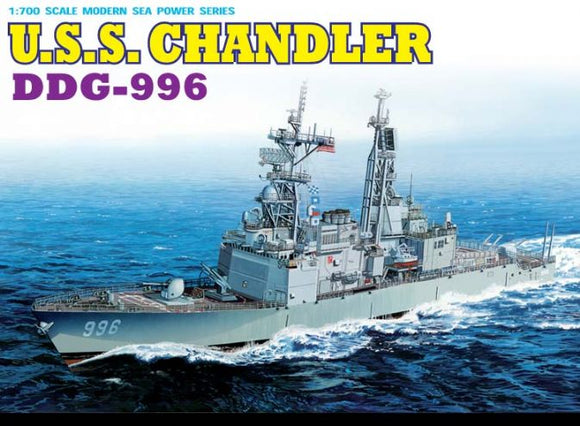 USS Chandler DDG996 Destroyer 1/700 Scale Plastic Model Kit Dragon 7026