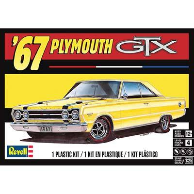 1967 Plymouth GTX 1/25 Scale  Plastic Model Car Kit Revell 85-4481
