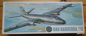 BAC Canberra B(I) 6 or B20 1/72 Scale Plastic Model Kit Airfix 05012-8