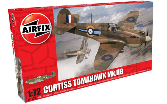 Curtiss Tomahawk Mk llB Fighter 1/72 Scale Plastic Model Kit Airfix A01003A