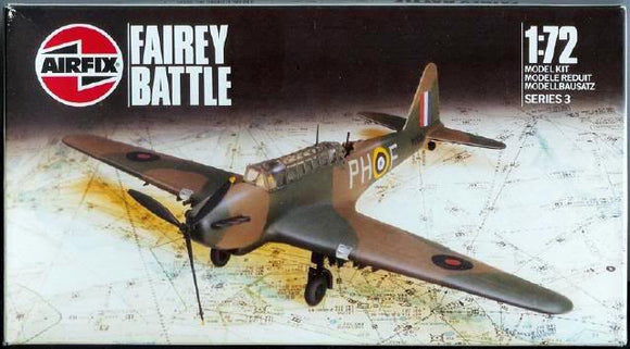 Fairey Battle Mk 1 1/72 Scale Plastic Model Kit Airfix 03032
