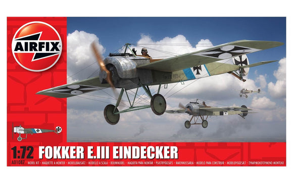 Fokker E.lll Eindecker Fighter 1/72 Scale Plastic Model Kit Airfix A01087