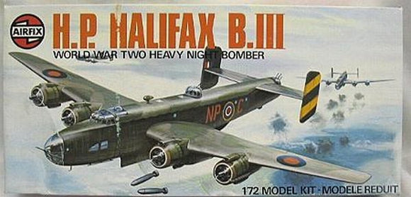 Handley Page Halifax B Mk. III 1/72 Scale Plastic Model Kit Airfix 05004-7