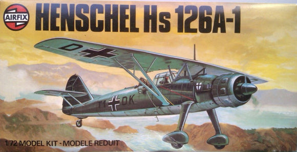 Henschel HS-126 A-1  1/72 Scale Plastic Model Kit Airfix 03028-7