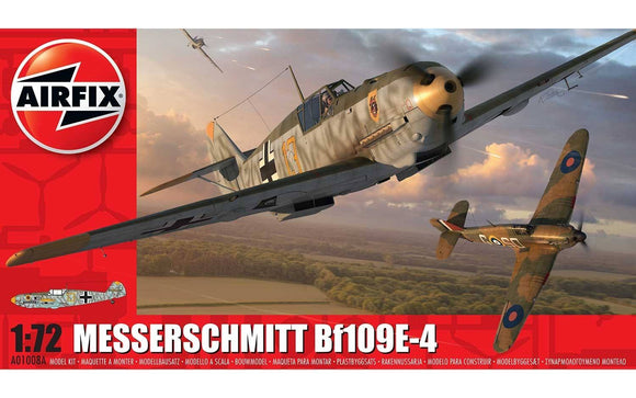 Messerschnitt Me109 E-4 1/72 Scale Plastic Model Kit Airfix A01008A