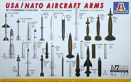 NATO Weapons Set Aircraft 1/72 Scale Plastic Model Kit Italeri 177