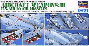 U.S. Air to Air Missles Weapons Set  1/72 Scale Plastic Model Kit Hasegawa X72-3